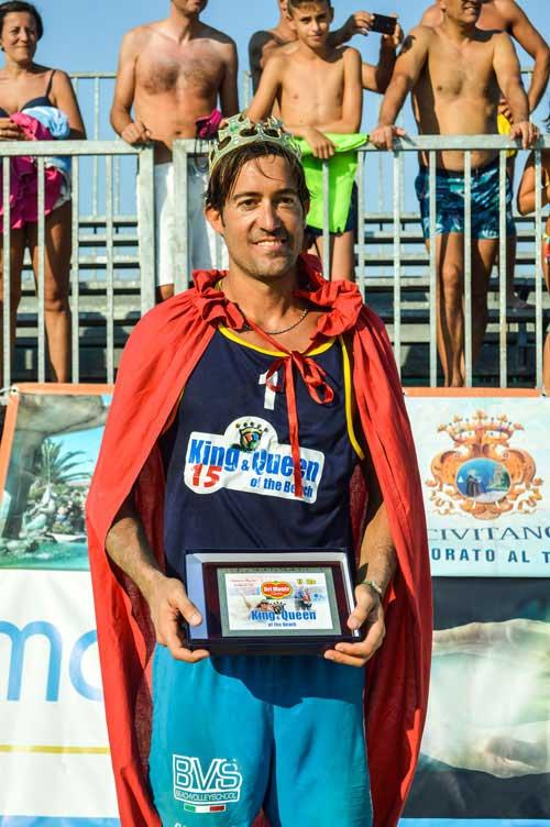 Paolo Ficosecco, ha vinto il titolo di king of the beach nel 2009,2011 e 2015.