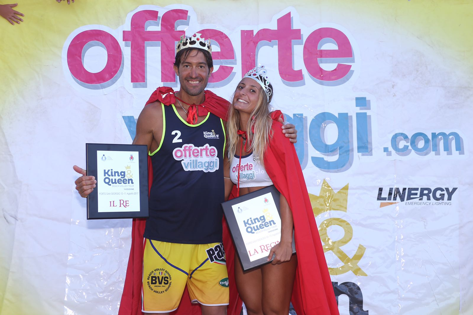 Paolo Ficosecco e Silvia Leonardi sono il King e Queen of the beach 2017